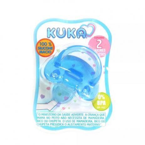 Chupeta de Silicone Soft +6m - Azul - Kuka