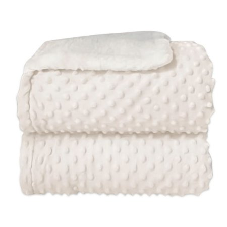 Cobertor Sherpam Dots - Branco - Laço Bebê