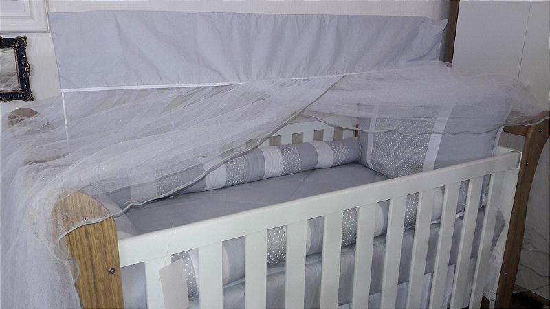 Kit Berço com 10 peças - Estrelas/Cinza - D' Souza Baby
