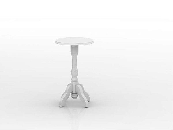 Mesa com Pé Torneado - Branco Fosco - Quater