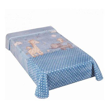 Cobertor Hipoalérgico Le Petit - Zoo Azul - Colibri
