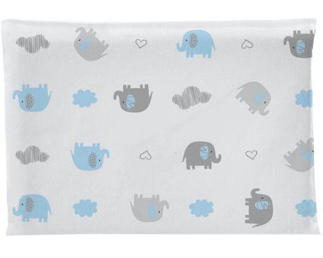 Travesseiro Antissufocante Elefante - Azul - Bambi