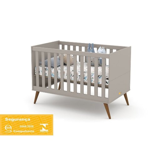 Berço Gold Eco Wood - Cinza - Matic