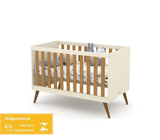 Berço Gold Eco Wood - Off White/Freijó - Matic