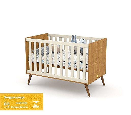 Berço Gold Eco Wood - Freijó/Off White - Matic