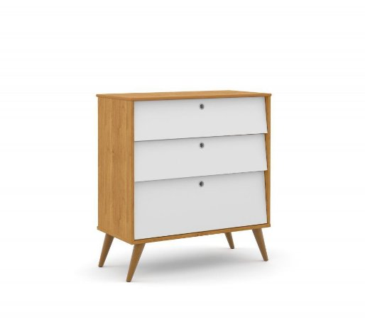 Gaveteiro Gold Eco Wood - Freijó/Branco Soft - Matic