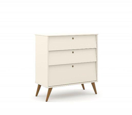 Gaveteiro Gold Eco Wood - Off White - Matic