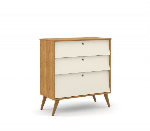 Gaveteiro Gold Eco Wood - Freijó/Off White - Matic