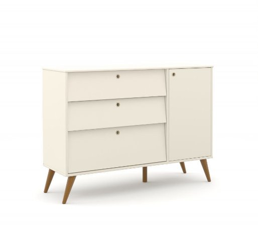 Cômoda Gold Eco Wood - Off White - Matic