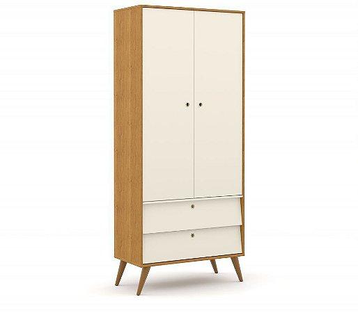 Guarda Roupa 2 Portas Gold Eco Wood - Freijó/Off White - Matic