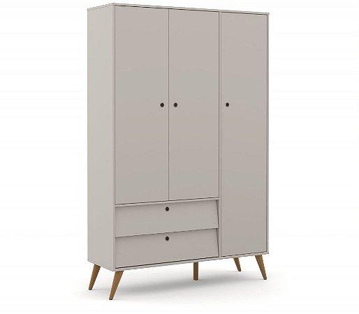 Guarda Roupa 3 Portas Gold Eco Wood - Cinza - Matic