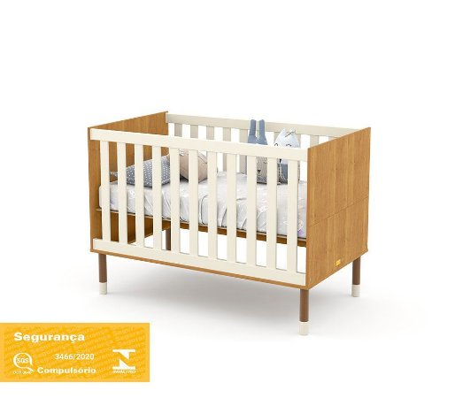 Berço Up Eco Wood - Freijó/Off White - Matic