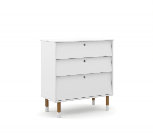 Gaveteiro Up Eco Wood - Branco Soft - Matic