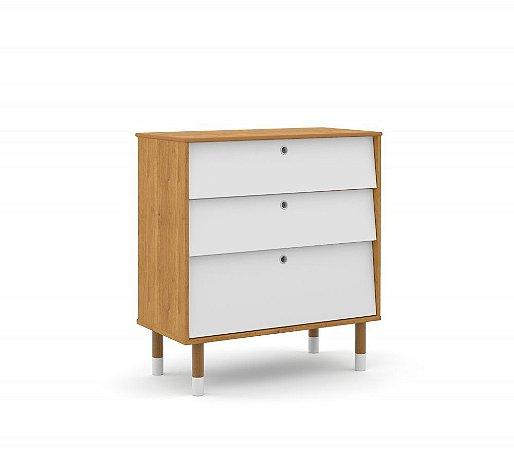 Gaveteiro Up Eco Wood - Freijó/Branco Soft - Matic