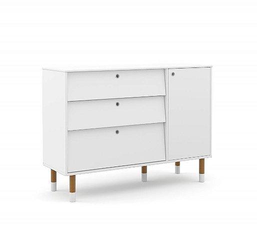 Cômoda Up Eco Wood - Branco Soft - Matic