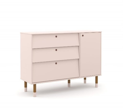 Cômoda Up Eco Wood - Rose - Matic