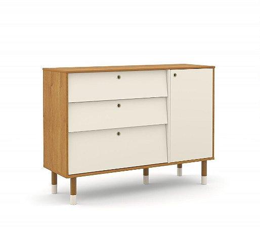 Cômoda Up Eco Wood - Freijó/Off White - Matic