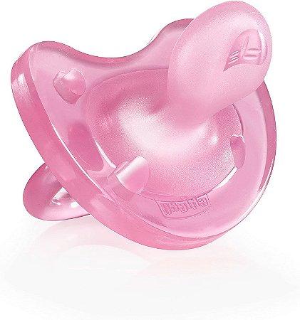 Chupeta Soft +12m - Rosa - Chicco