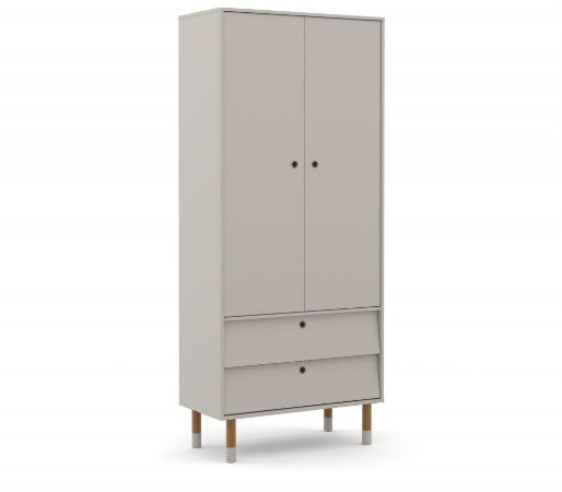 Guarda Roupa 2 Portas Up Eco Wood - Cinza - Matic
