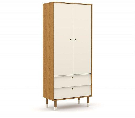 Guarda Roupa 2 Portas Up Eco Wood - Freijó/Off White - Matic