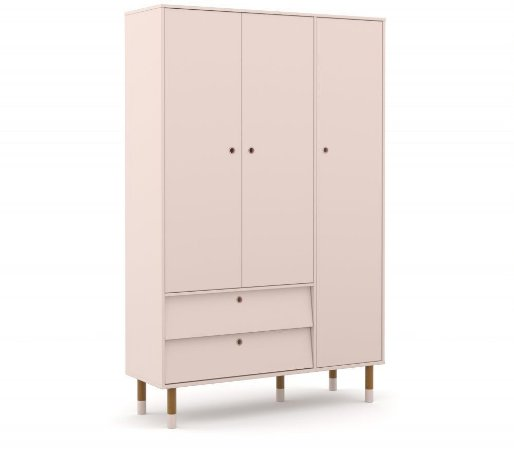 Guarda Roupa 3 Portas Up Eco Wood - Rose - Matic