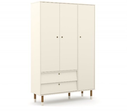 Guarda Roupa 3 Portas Up Eco Wood - Off White - Matic