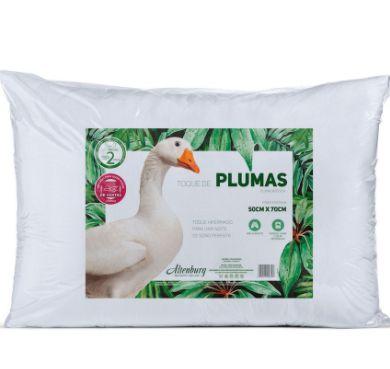 Travesseiro Pluma 50 x 70 cm - Branco - Altenburg