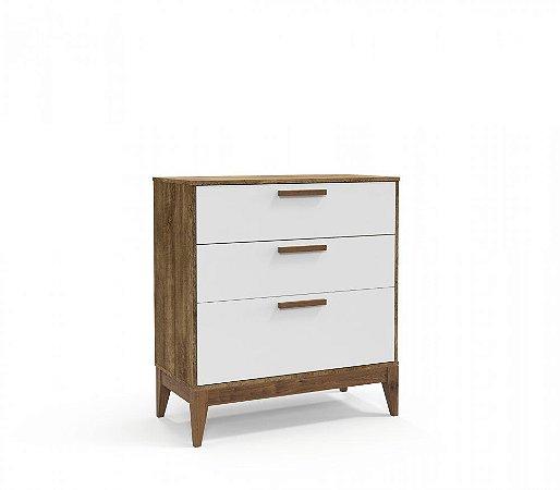 Cômoda Nature Eco Wood - Branco Soft/Teka - Matic
