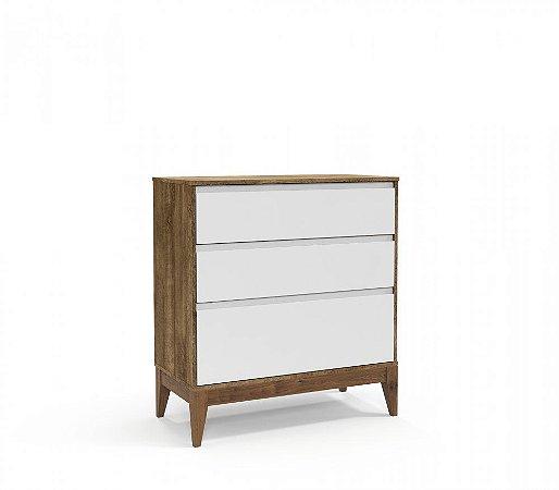 Cômoda Nature Clean Eco Wood - Branco Soft/Teka - Matic