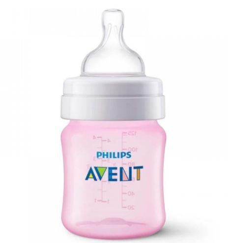 Mamadeira Anti-Colic 125 ml +0m - Rosa - Philips Avent