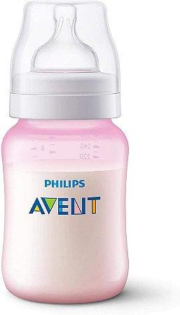 Mamadeira Anti-Colic 260ml +1m - Rosa - Philips Avent