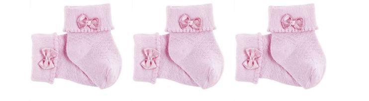Kit Meia 3 Pares - Rosa - Lupo Baby