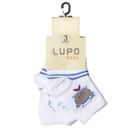 Kit Meia 3 Pares - Estampadas Marinheiro - Lupo Baby