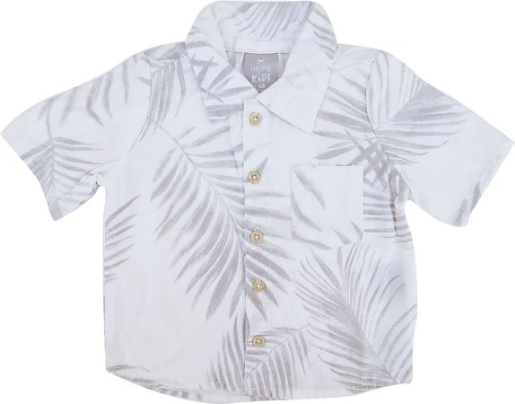 Camisa Infantil Masculina - Branca - Hering Kids
