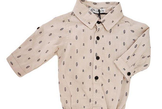Camisa Infantil Masculina - Bege - Lazy