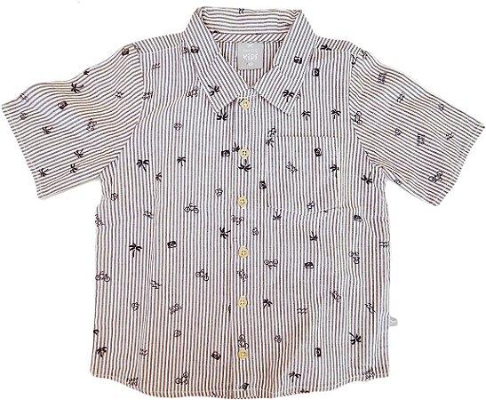 Camisa Infantil Masculina - Listras - Hering Kids