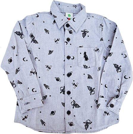 Camisa Infantil Masculina - Azul - Puc
