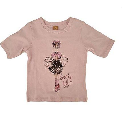 Blusa Infantil Feminina - Rosa - Up Baby