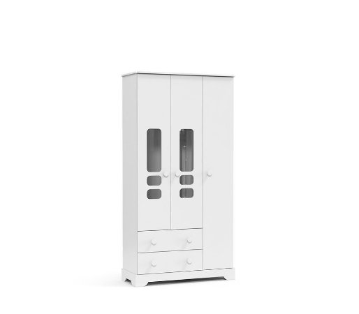 Guarda Roupa Smart 3 Portas - Branco Soft - Matic