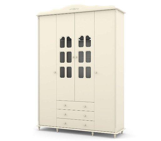 Guarda Roupa Provence 4 Portas - Off White - Matic