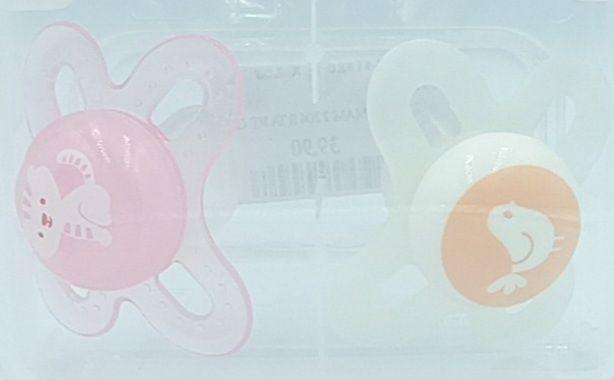 Chupeta Start 0-2M - Rosa e Branca - 2 un - MAM