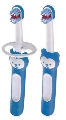Kit Escova Dental Baby's Brush 2 un +6M - Azul - MAM