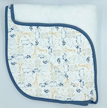 Cobertor Soft 94 x 77 cm - Safari Meninos - Anjos Baby