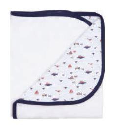 Cobertor Soft 94 x 77 cm - Mar Meninos  - Anjos Baby