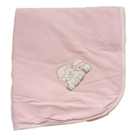 Manta Suedine 80 x 80 cm - Rosa - Anjos Baby
