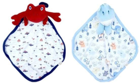 Kit com 2 Naninhas Suedine  - Azul - Anjos Baby