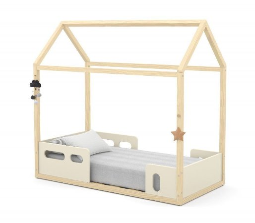 Mini Cama Montessoriana Liv - Off White/Natural - Matic