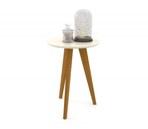 Mesa Lateral Liv Eco Wood - Off White - Matic