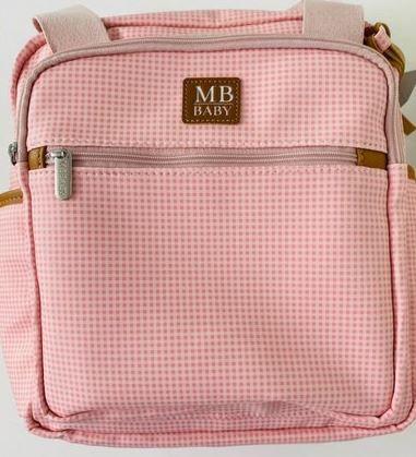 Mochila Passeio Quadriculado - Rosa - MB Baby