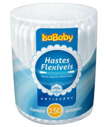 Haste Flexível Pote 150 un - Isababy